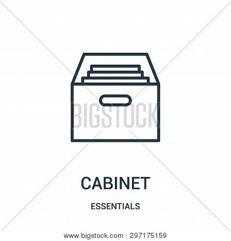 Cabinet Icon Isolated On White Background From Essentials Collection. Cabinet Icon Trendy And Modern