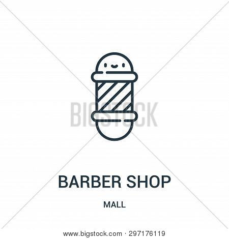 Barber Shop Icon Isolated On White Background From Mall Collection. Barber Shop Icon Trendy And Mode