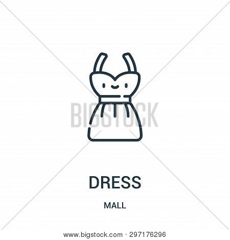 Dress Icon Isolated On White Background From Mall Collection. Dress Icon Trendy And Modern Dress Sym