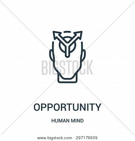 Opportunity Icon Isolated On White Background From Human Mind Collection. Opportunity Icon Trendy An