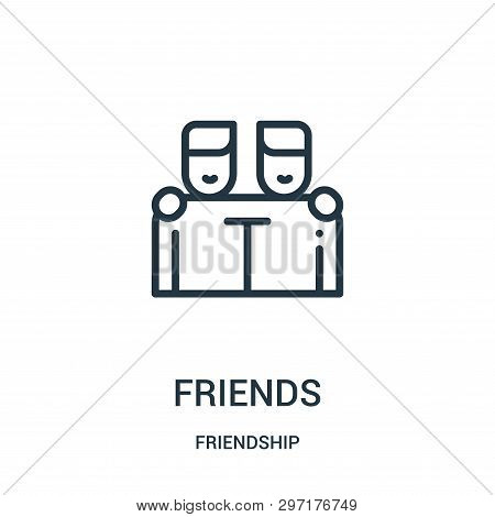 Friends Icon Isolated On White Background From Friendship Collection. Friends Icon Trendy And Modern