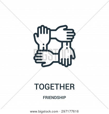 Together Icon Isolated On White Background From Friendship Collection. Together Icon Trendy And Mode