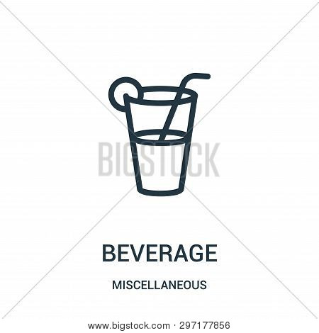 Beverage Icon Isolated On White Background From Miscellaneous Collection. Beverage Icon Trendy And M