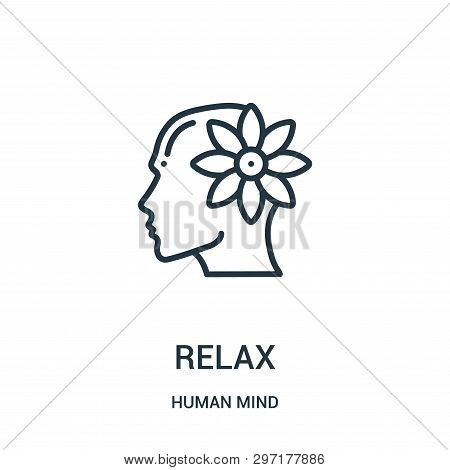 Relax Icon Isolated On White Background From Human Mind Collection. Relax Icon Trendy And Modern Rel