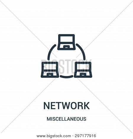 Network Icon Isolated On White Background From Miscellaneous Collection. Network Icon Trendy And Mod