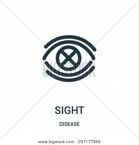 Sight Icon Isolated On White Background From Disease Collection. Sight Icon Trendy And Modern Sight