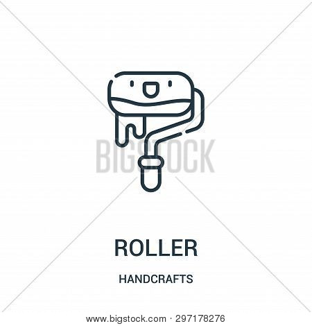 Roller Icon Isolated On White Background From Handcrafts Collection. Roller Icon Trendy And Modern R