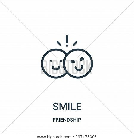Smile Icon Isolated On White Background From Friendship Collection. Smile Icon Trendy And Modern Smi