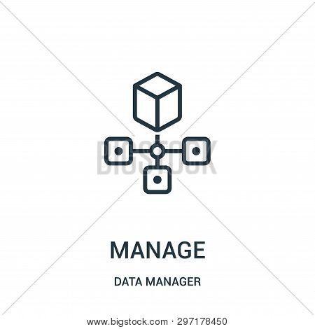Manage Icon Isolated On White Background From Data Manager Collection. Manage Icon Trendy And Modern