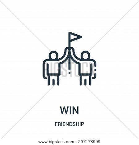 Win Icon Isolated On White Background From Friendship Collection. Win Icon Trendy And Modern Win Sym