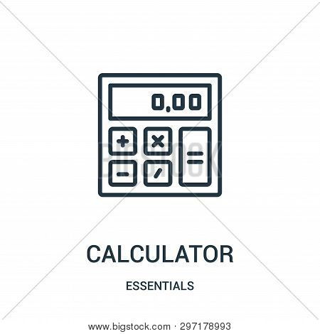 Calculator Icon Isolated On White Background From Essentials Collection. Calculator Icon Trendy And
