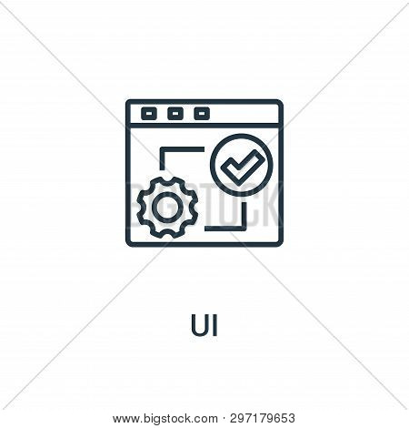 Ui Icon Isolated On White Background From Seo Collection. Ui Icon Trendy And Modern Ui Symbol For Lo