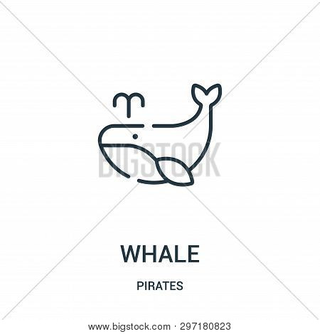 Whale Icon Isolated On White Background From Pirates Collection. Whale Icon Trendy And Modern Whale