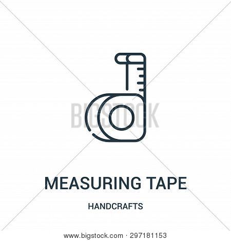 Measuring Tape Icon Isolated On White Background From Handcrafts Collection. Measuring Tape Icon Tre