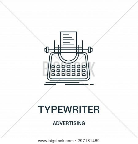 Typewriter Icon Isolated On White Background From Advertising Collection. Typewriter Icon Trendy And