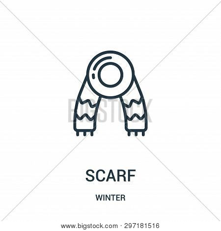Scarf Icon Isolated On White Background From Winter Collection. Scarf Icon Trendy And Modern Scarf S
