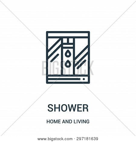 Shower Icon Isolated On White Background From Home And Living Collection. Shower Icon Trendy And Mod