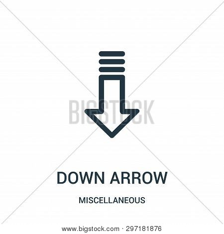 Down Arrow Icon Isolated On White Background From Miscellaneous Collection. Down Arrow Icon Trendy A