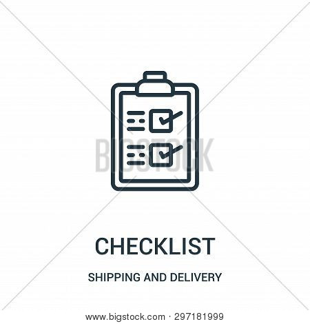 Checklist Icon Isolated On White Background From Shipping And Delivery Collection. Checklist Icon Tr