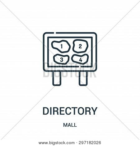 Directory Icon Isolated On White Background From Mall Collection. Directory Icon Trendy And Modern D