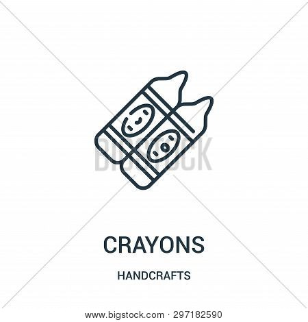 Crayons Icon Isolated On White Background From Handcrafts Collection. Crayons Icon Trendy And Modern