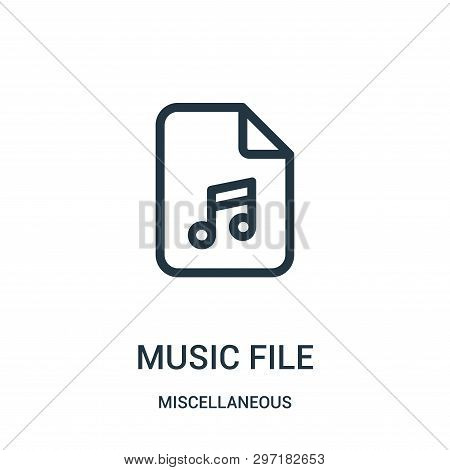 music file icon isolated on white background from miscellaneous collection. music file icon trendy and modern music file symbol for logo, web, app, UI. music file icon simple sign. music file icon flat vector illustration for graphic and web design. poster