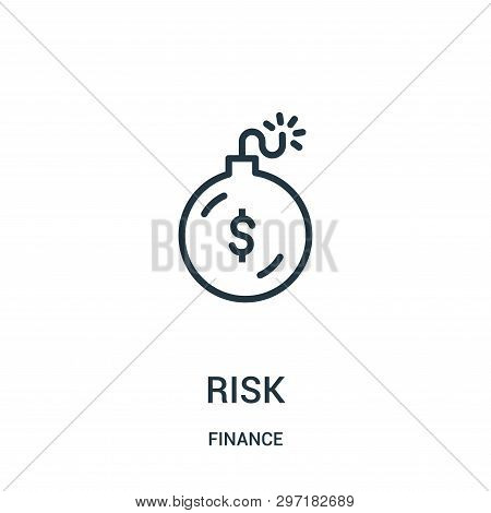 Risk Icon Isolated On White Background From Finance Collection. Risk Icon Trendy And Modern Risk Sym