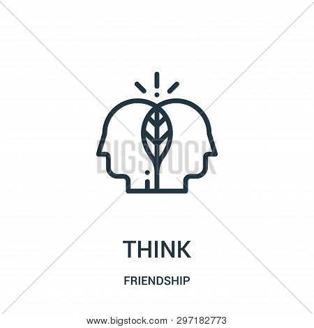 Think Icon Isolated On White Background From Friendship Collection. Think Icon Trendy And Modern Thi