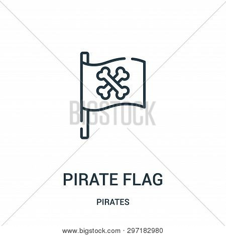 Pirate Flag Icon Isolated On White Background From Pirates Collection. Pirate Flag Icon Trendy And M