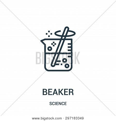 Beaker Icon Isolated On White Background From Science Collection. Beaker Icon Trendy And Modern Beak