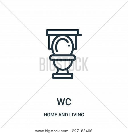 Wc Icon Isolated On White Background From Home And Living Collection. Wc Icon Trendy And Modern Wc S