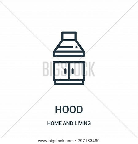 Hood Icon Isolated On White Background From Home And Living Collection. Hood Icon Trendy And Modern