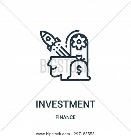 poster of investment icon isolated on white background from finance collection. investment icon trendy and modern investment symbol for logo, web, app, UI. investment icon simple sign. investment icon flat vector illustration for graphic and web design.