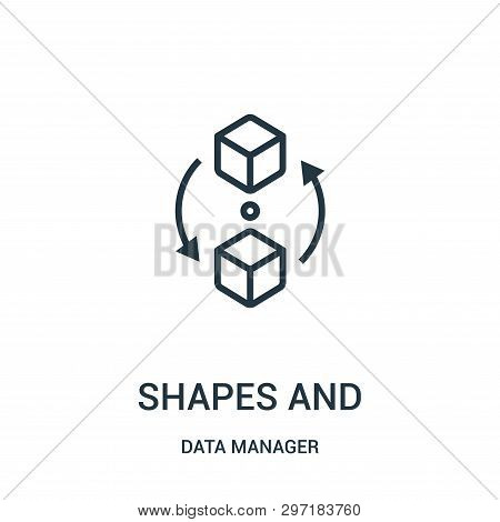 Shapes And Symbols Icon Isolated On White Background From Data Manager Collection. Shapes And Symbol