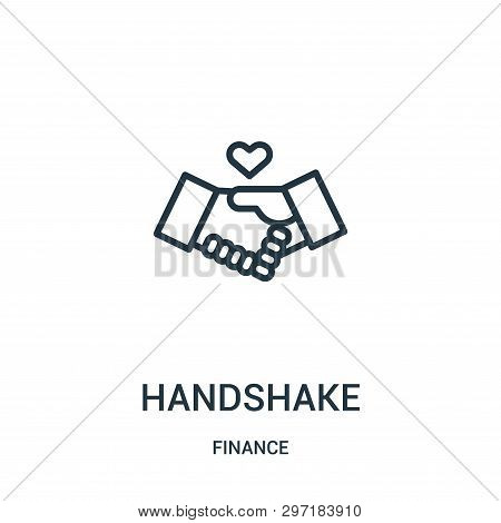 Handshake Icon Isolated On White Background From Finance Collection. Handshake Icon Trendy And Moder