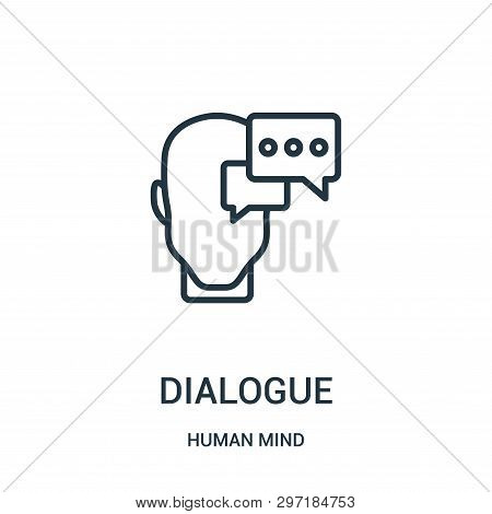 Dialogue Icon Isolated On White Background From Human Mind Collection. Dialogue Icon Trendy And Mode