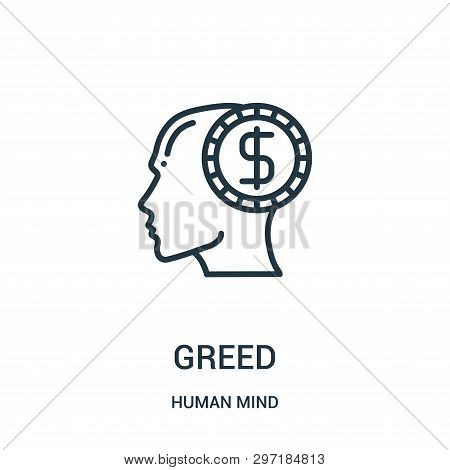 Greed Icon Isolated On White Background From Human Mind Collection. Greed Icon Trendy And Modern Gre