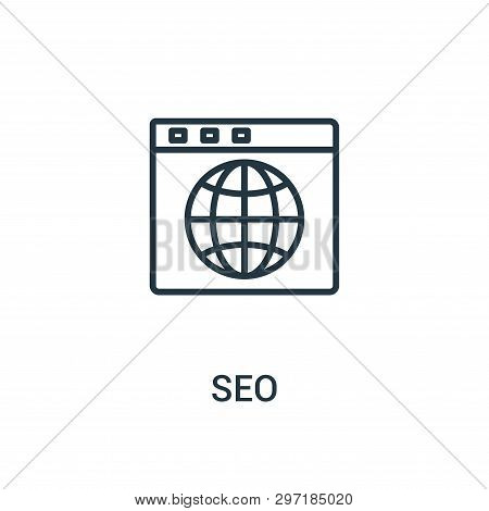 Seo Icon Isolated On White Background From Seo Collection. Seo Icon Trendy And Modern Seo Symbol For