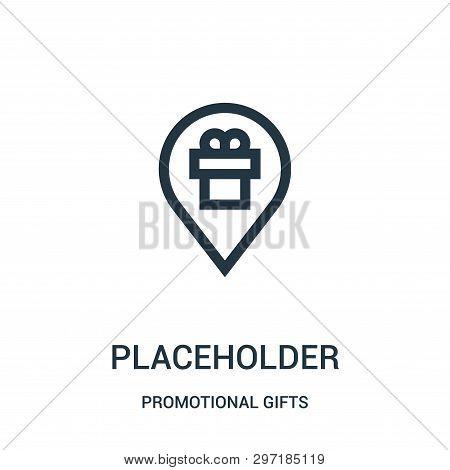 Placeholder Icon Isolated On White Background From Promotional Gifts Collection. Placeholder Icon Tr
