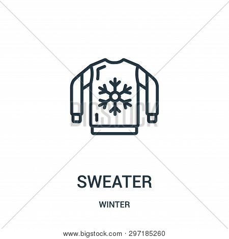 Sweater Icon Isolated On White Background From Winter Collection. Sweater Icon Trendy And Modern Swe