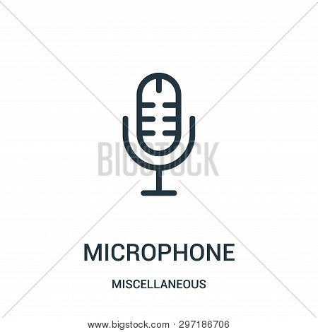 Microphone Icon Isolated On White Background From Miscellaneous Collection. Microphone Icon Trendy A