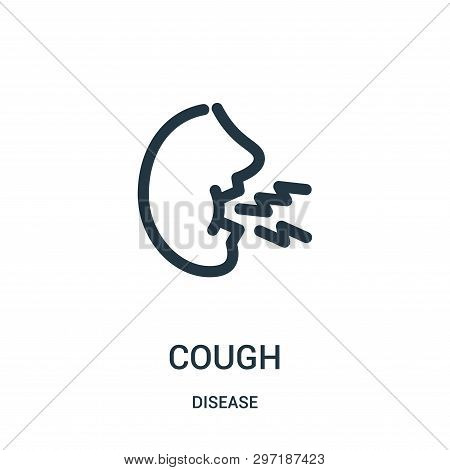 Cough Icon Isolated On White Background From Disease Collection. Cough Icon Trendy And Modern Cough