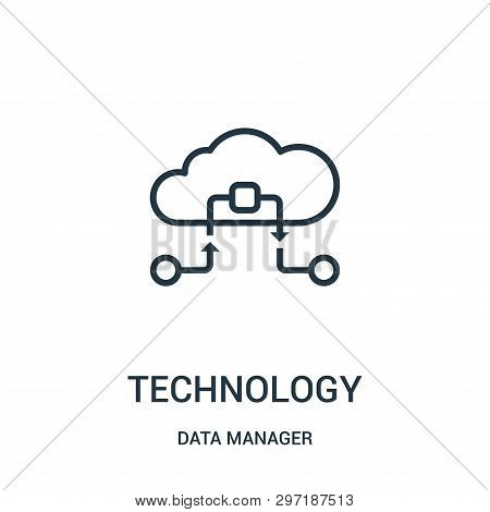 Technology Icon Isolated On White Background From Data Manager Collection. Technology Icon Trendy An