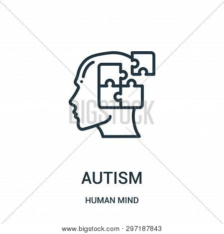 Autism Icon Isolated On White Background From Human Mind Collection. Autism Icon Trendy And Modern A
