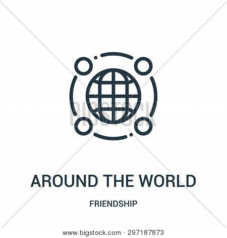 Around The World Icon Isolated On White Background From Friendship Collection. Around The World Icon