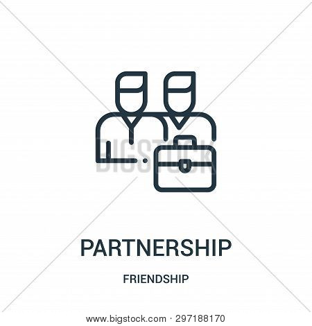 Partnership Icon Isolated On White Background From Friendship Collection. Partnership Icon Trendy An