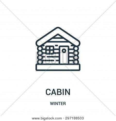 Cabin Icon Isolated On White Background From Winter Collection. Cabin Icon Trendy And Modern Cabin S