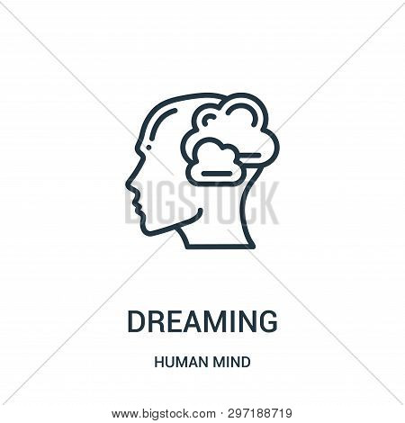 Dreaming Icon Isolated On White Background From Human Mind Collection. Dreaming Icon Trendy And Mode