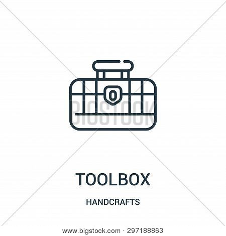Toolbox Icon Isolated On White Background From Handcrafts Collection. Toolbox Icon Trendy And Modern