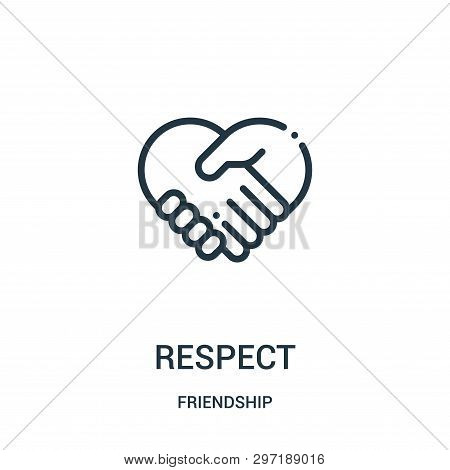 Respect Icon Isolated On White Background From Friendship Collection. Respect Icon Trendy And Modern